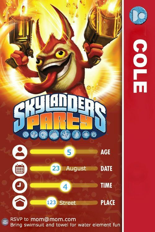 skylander birthday card template ; baa7e6cd0870879975b08906671522a8--skylanders-party-boy-birthday