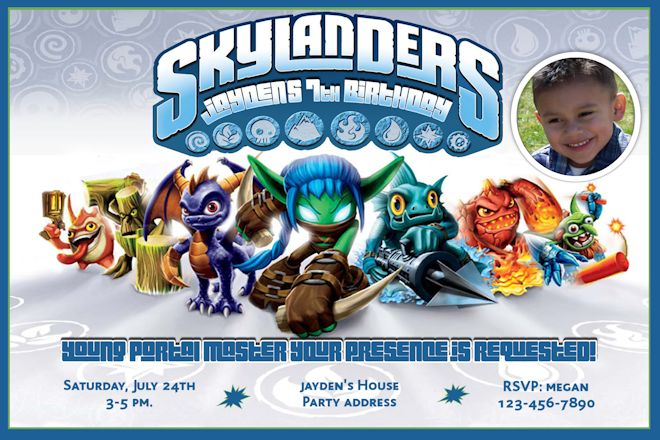 skylander birthday card template ; free-printable-skylander-birthday-invitations_205316