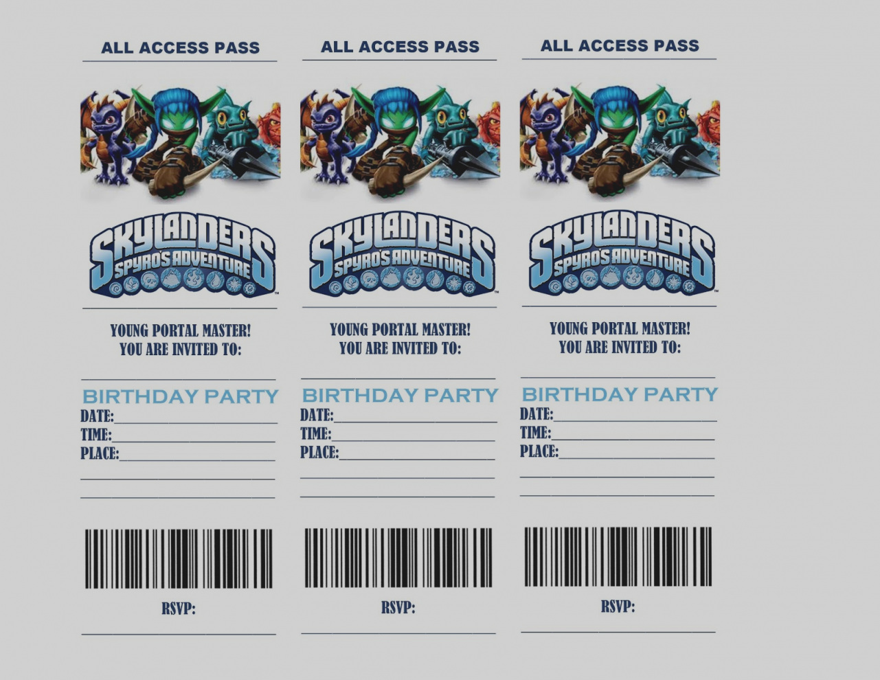 skylander birthday card template ; gallery-skylander-birthday-invitations-free-skylanders-printable-party