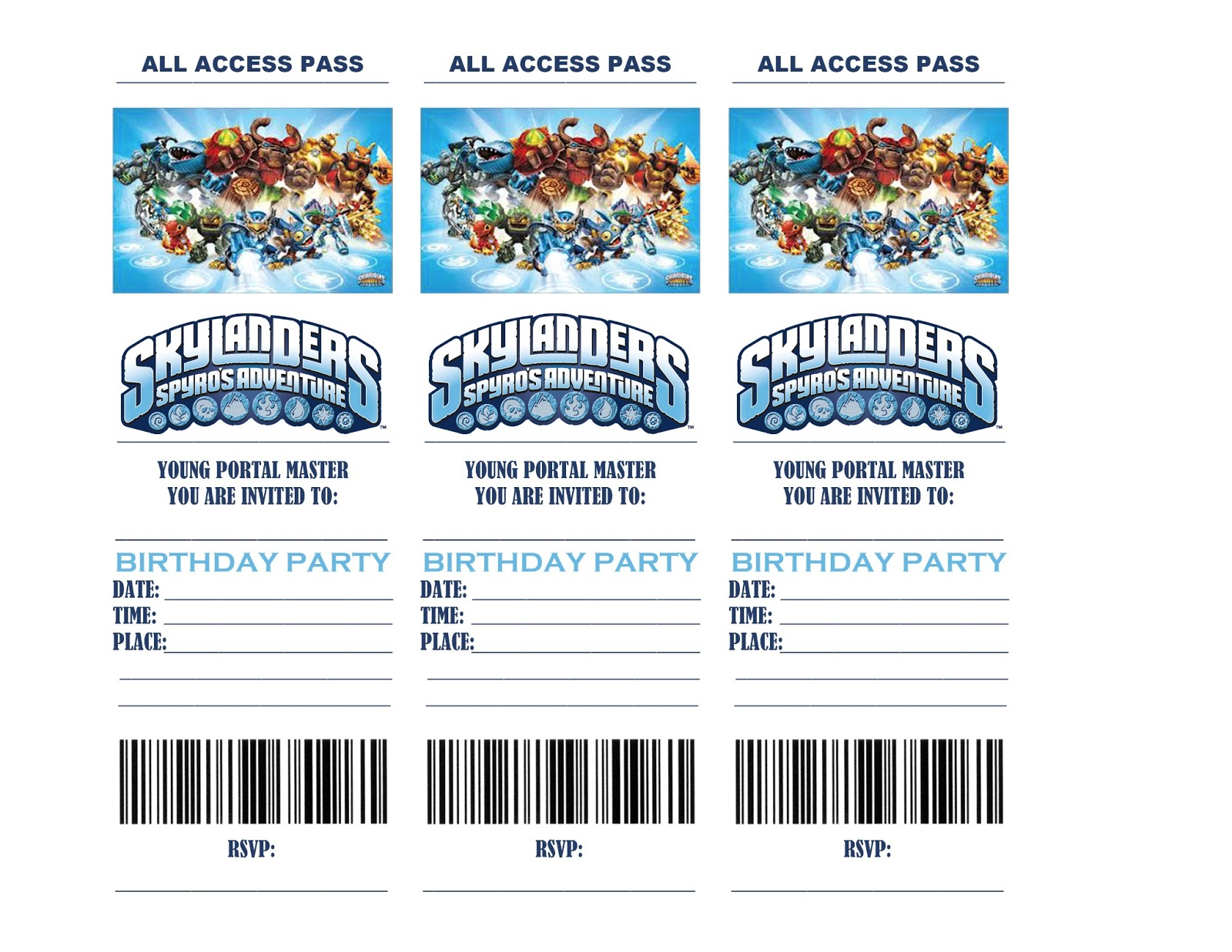 skylander birthday card template ; skylanders-birthday-party-invitations-printable-b72b58f0ab55dc331bc3e8c798faf95c