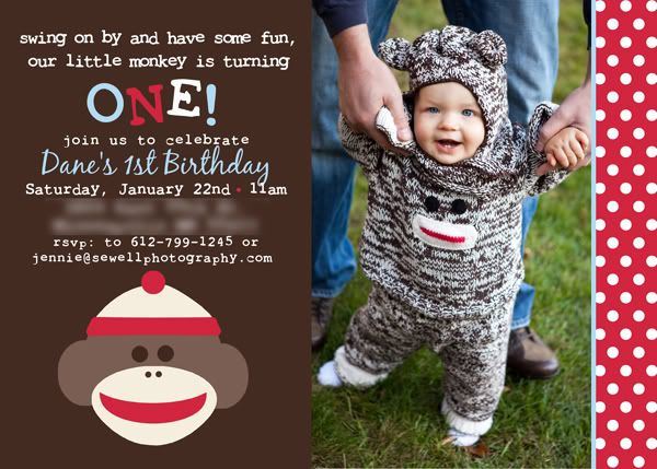 sock monkey birthday invitation template ; 25957814135e7fee9c0cde9a55eb3535