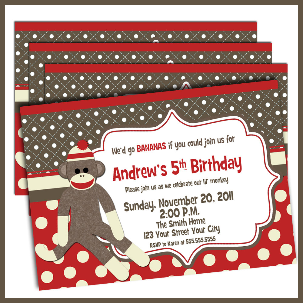 sock monkey birthday invitation template ; 956-sock-monkey-invitation-template-sock-monkey-invitation-template-25-awesome-sock-monkey-birthday-invitation-gallery-invitation-card-draft-in-the-interest-of