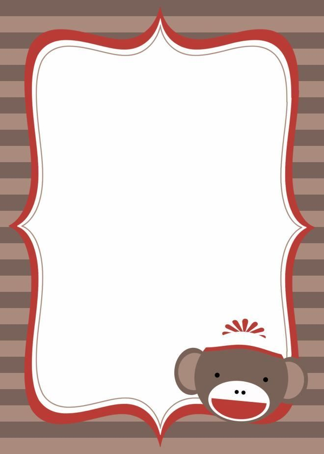 sock monkey birthday invitation template ; ac666a574a4e2f40e205a80ad5a81678