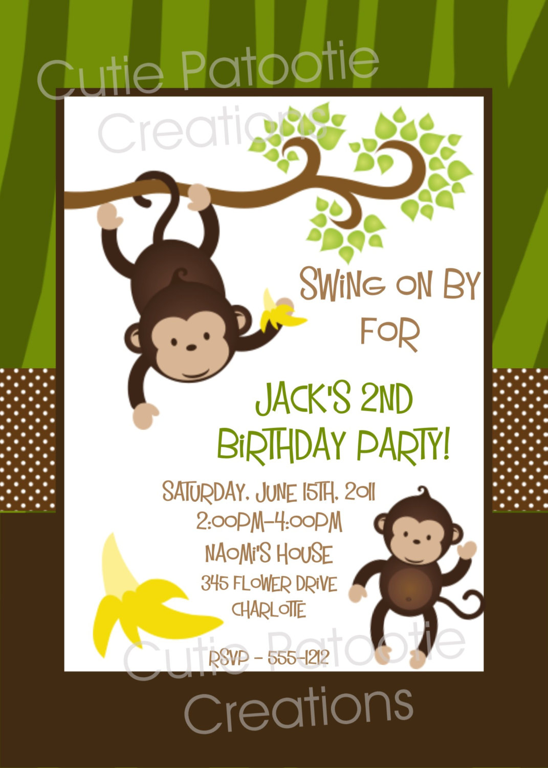 sock monkey birthday invitation template ; monkey-birthday-invitations-in-support-of-invitations-your-Birthday-Invitation-Templates-with-astonishing-ornaments-10