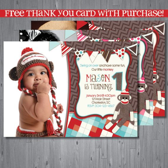 sock monkey birthday invitation template ; sock%2520monkey%2520photo%2520birthday%2520invitations%2520;%2520sock-monkey-party-invitations-to-inspire-your-enchanting-Party-invitations-designs-15