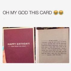 something funny to write in birthday card ; 594ec0c279721a9aeecc9272e49284e7