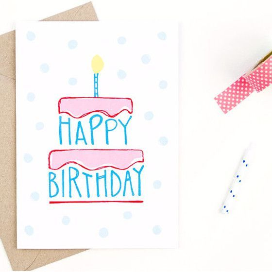 special birthday card design ; design-for-greeting-cards-of-birthday-happy-birthday-card-hand-drawn-happy-birthday-and-envelopes