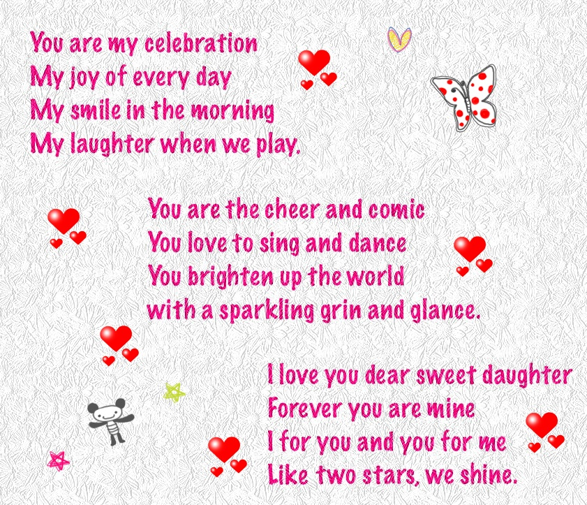 special birthday verses ; happy-birthday-daughter-poems-from-parents
