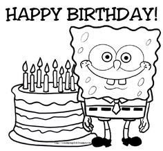 spongebob happy birthday coloring pages ; 18500cb181e4cab1d39d159fba4eea6d--spongebob-birthday-party-free-birthday