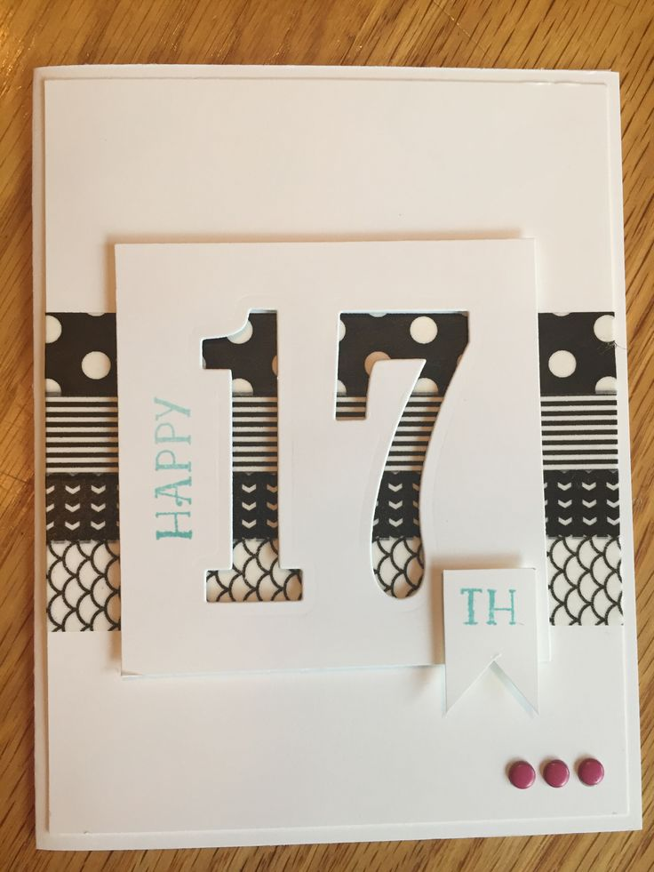 stampin up masculine birthday card ideas ; 45f09acd1824d3f4f872780d13354f18--jeunesse-numbers