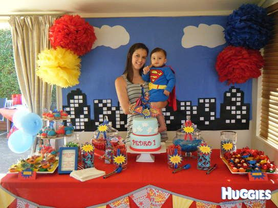 superman design for birthday party ; 3bee13b6984404e696d142f5ea675327--superhero-birthday-cake-superhero-party
