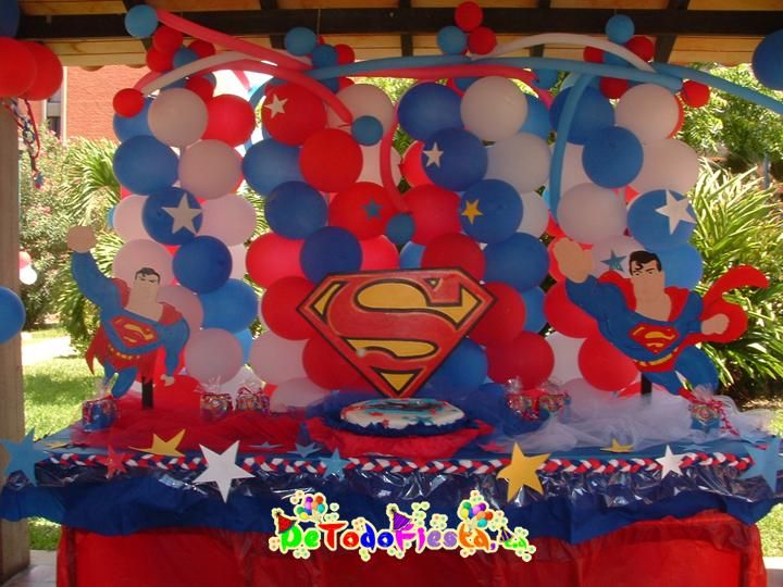superman design for birthday party ; d8c2fcf28bb04763d15285dfed924fc0--superman-baby-shower-superman-birthday