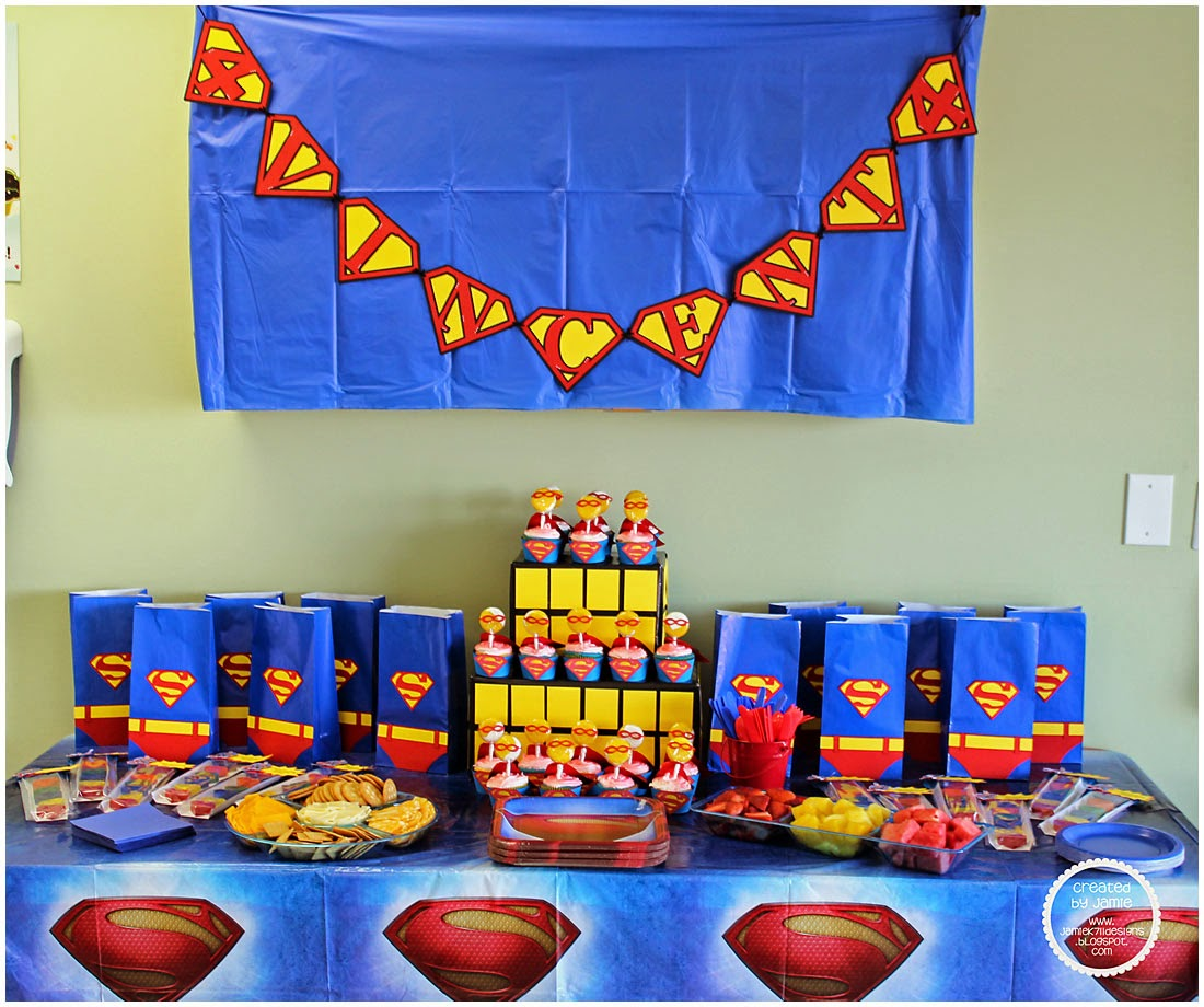 superman design for birthday party ; sm4