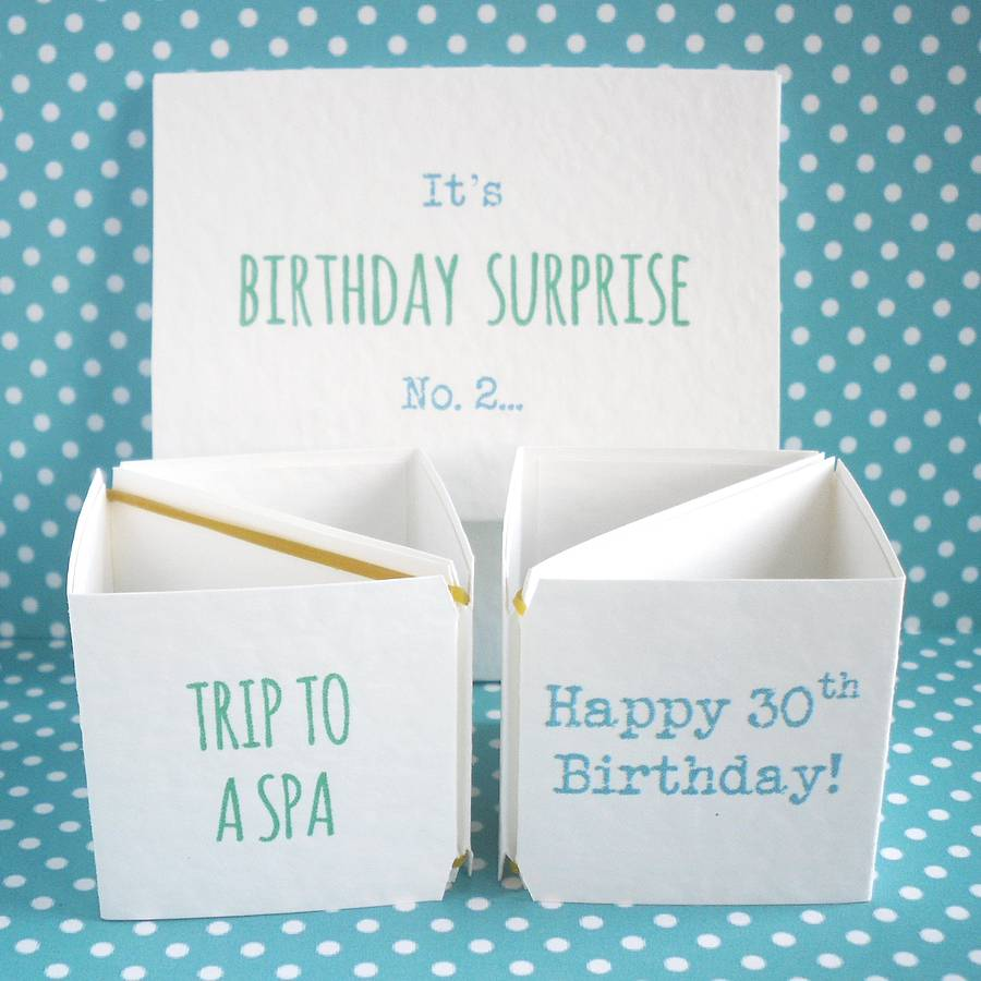 surprise holiday birthday card ; original_birthday-surprise-announcement-cards