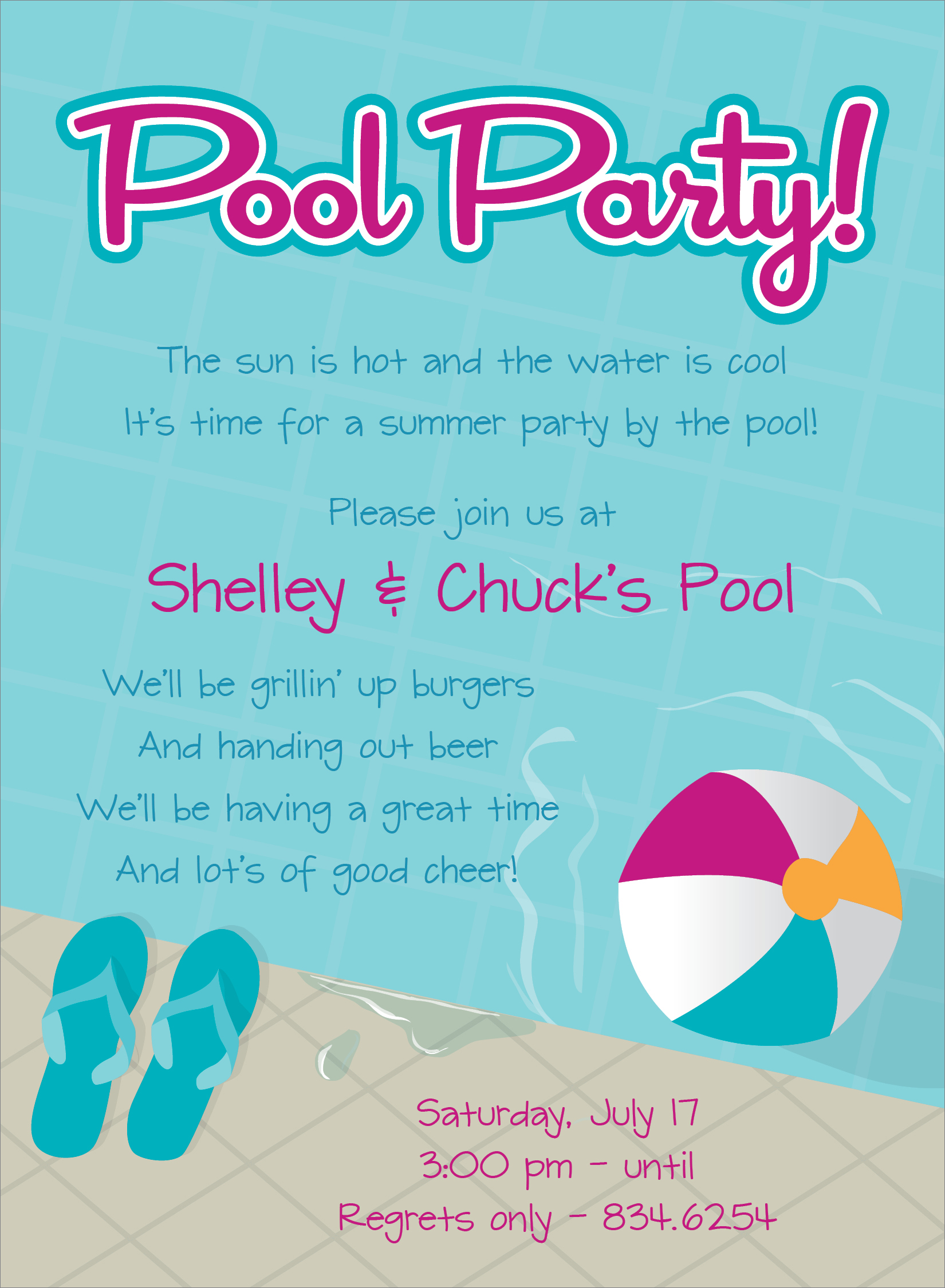 swimming birthday party invitation ideas ; Pool-party-invitation-wording-combined-with-your-creativity-will-make-this-looks-awesome-1