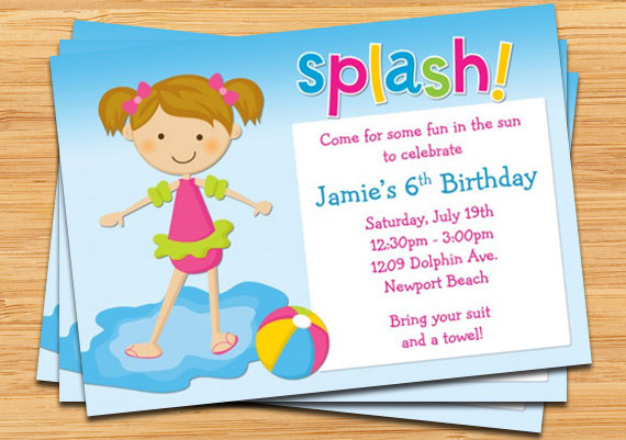 swimming birthday party invitation ideas ; description-invite-your-childs-friends-to-their-next-birthday-party-with-this-pool-party-invitation_kids-pool-party-birthday-invi-on-pool-party-invitations-for-kids