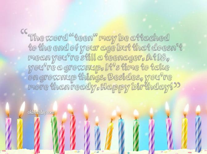 teenage birthday message girl ; 35-18-year-old-birthday-quotes