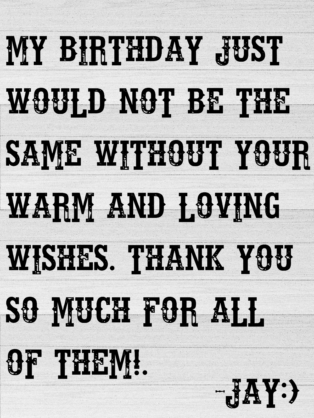 thank you message for my birthday greeters ; birthday%252Bthank%252Byou