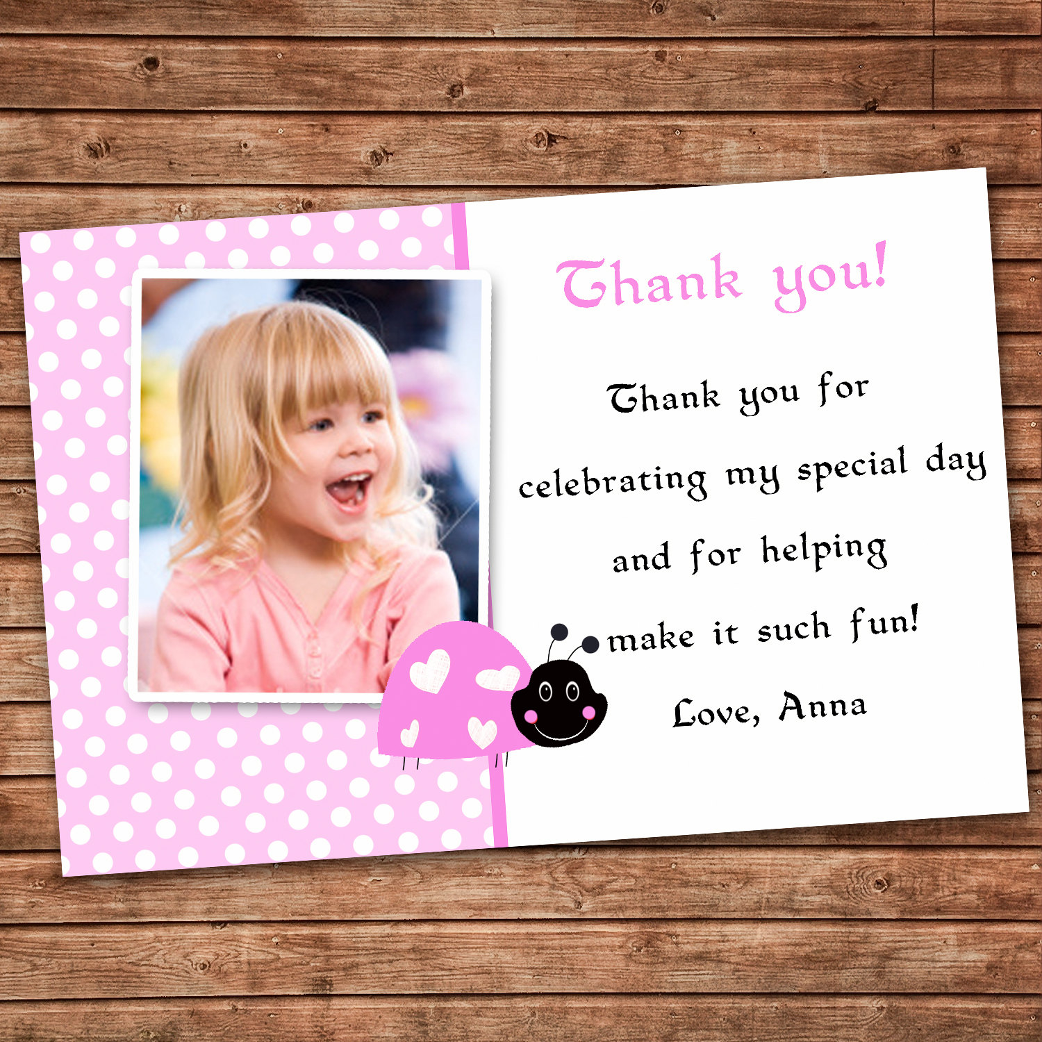 thank you note for birthday card ; Personalized-Any-Wording-Pink-Marvelous-Thank-You-Birthday-Cards