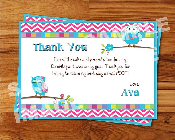 thank you note for birthday card ; thank-you-note-to-buyer-owl-birthday-thank-you-note-mod-owl-thank-you-card-owlthank-you-note-to-buyer-owl-birthday-thank-you-note-mod-owl-thank-you-card-owl-cake