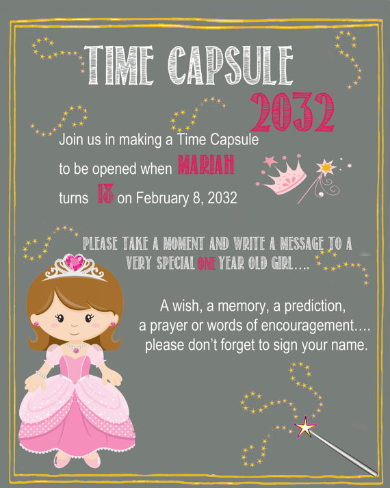 time capsule first birthday invitation ; first-birthday-time-capsule-template_186363