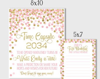 time capsule first birthday invitation ; first-birthday-time-capsule_207921