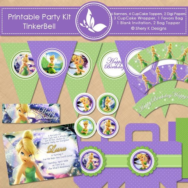 tinkerbell birthday invitations printable ; 616-best-tinkerbelle-amp-fairies-party-images-on-pinterest-tinkerbell-banners-for-birthdays