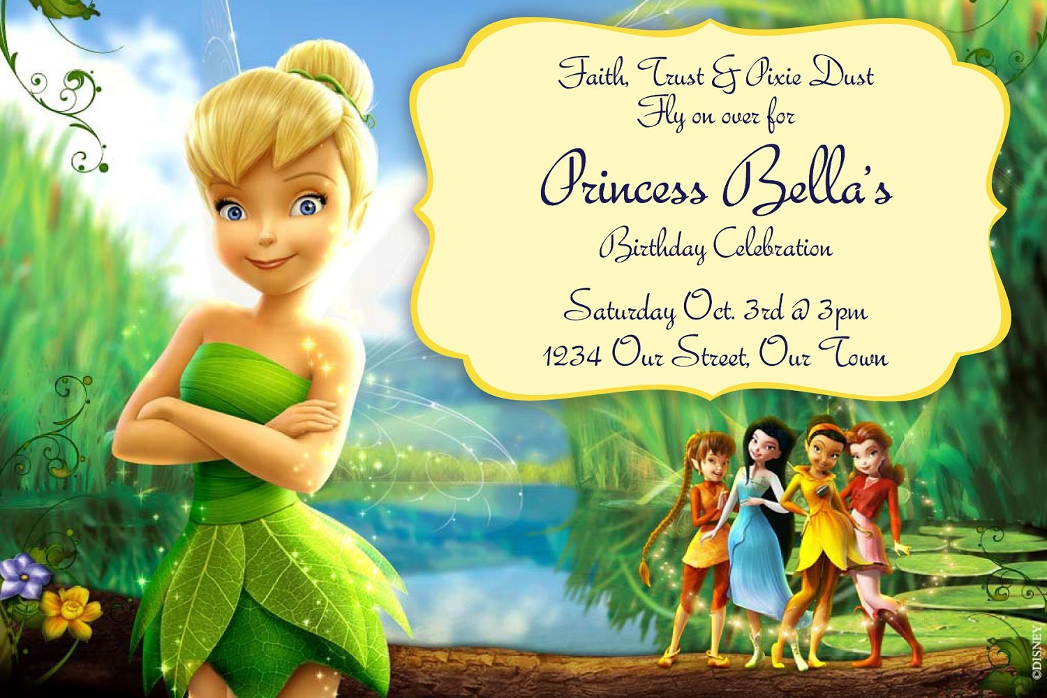 tinkerbell birthday invitations printable ; tinkerbell-birthday-invitations-for-simple-invitations-of-your-Birthday-Invitation-Templates-using-fetching-design-ideas-3