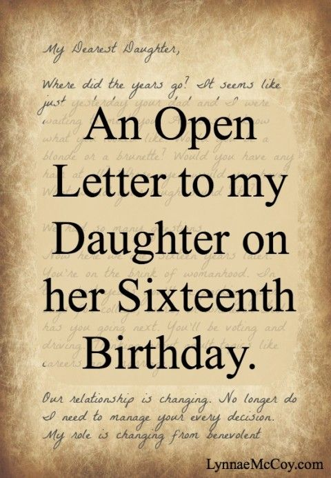 to my daughter on her 16th birthday poem ; 0f454e477556a3a12823e7ebc80c61a0