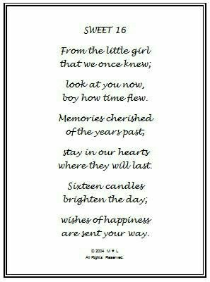 to my daughter on her 16th birthday poem ; b6c8eb0bd5778f1745362e240dc0512e