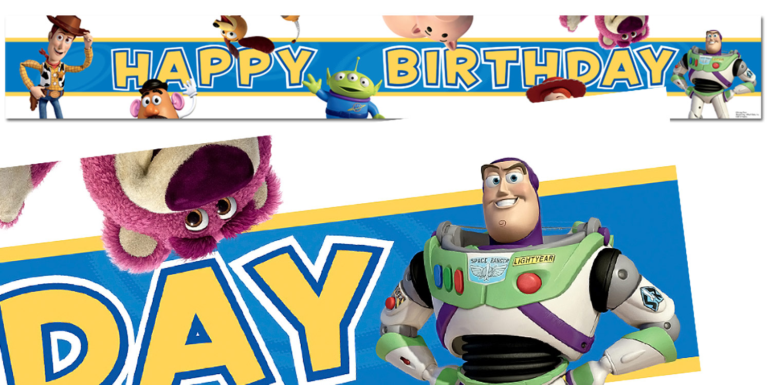 toy story happy birthday banner ; 9470