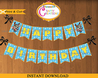 toy story happy birthday banner ; il_340x270