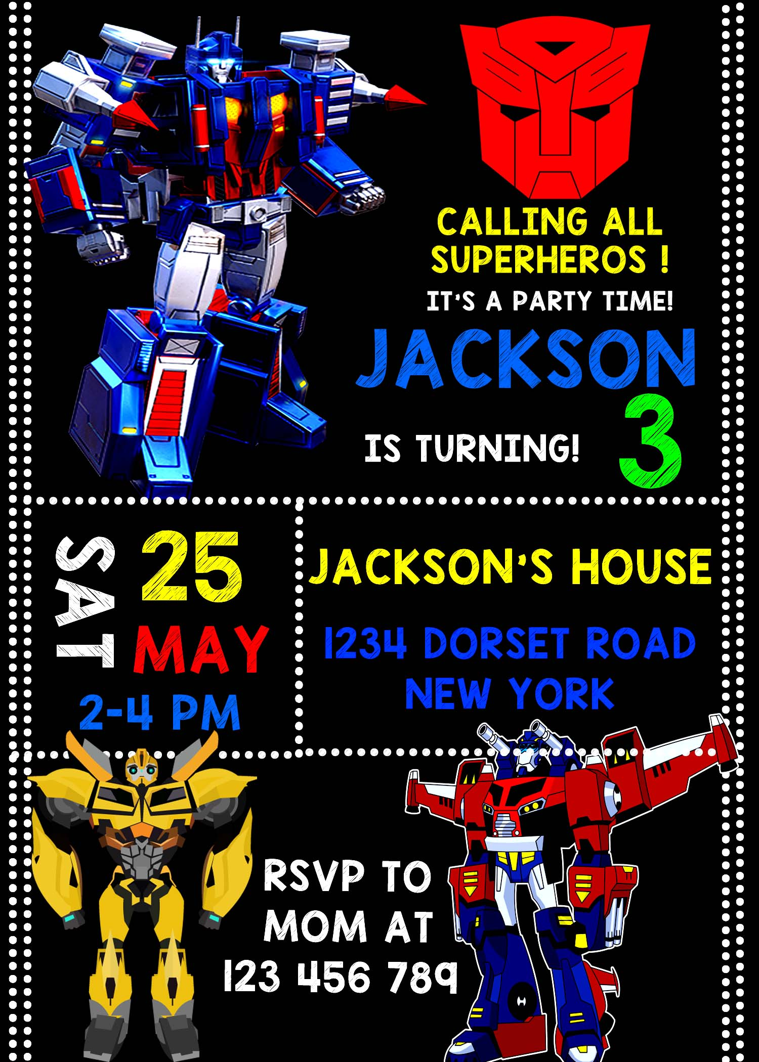 transformer birthday invitation card ; transformer-birthday-invitations-in-support-of-invitations-your-Birthday-Invitation-Templates-with-remarkable-ornaments-11