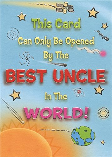 uncle birthday card funny ; Silver-Foil-Best-Uncle-in-the-World-Designer-Greetings-Funny-Birthday-Card-0