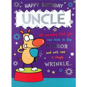 uncle birthday card funny ; s-l300-1