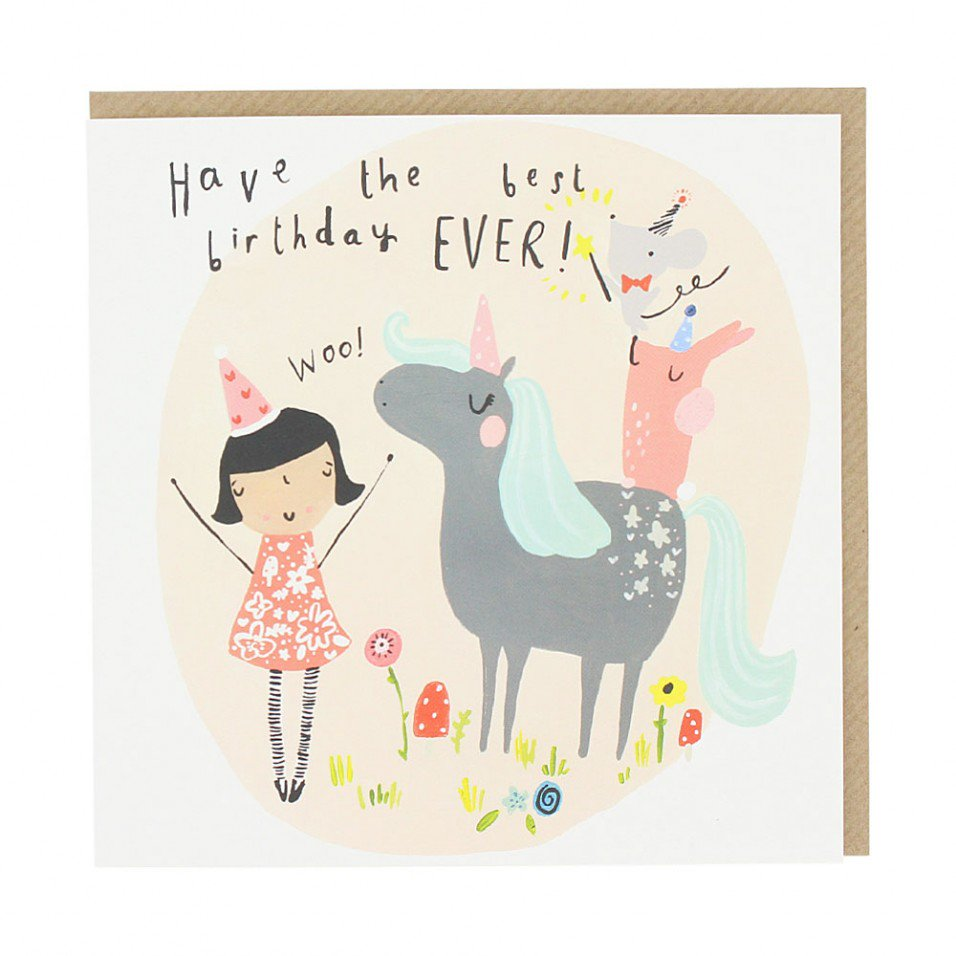 unicorn birthday card ; 00566329