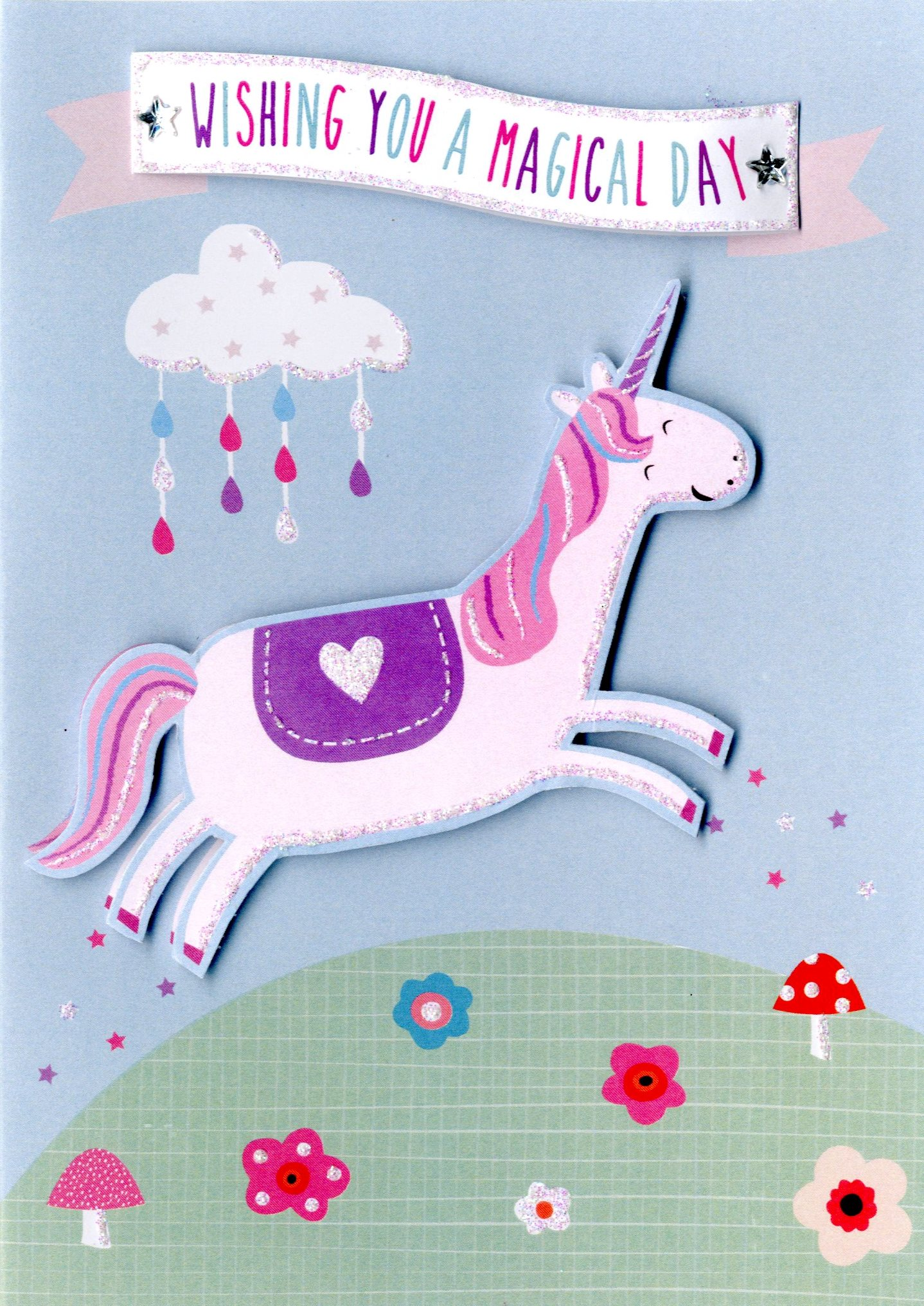 unicorn birthday card ; YT313