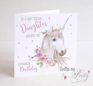 unicorn birthday card ; s-l300-2