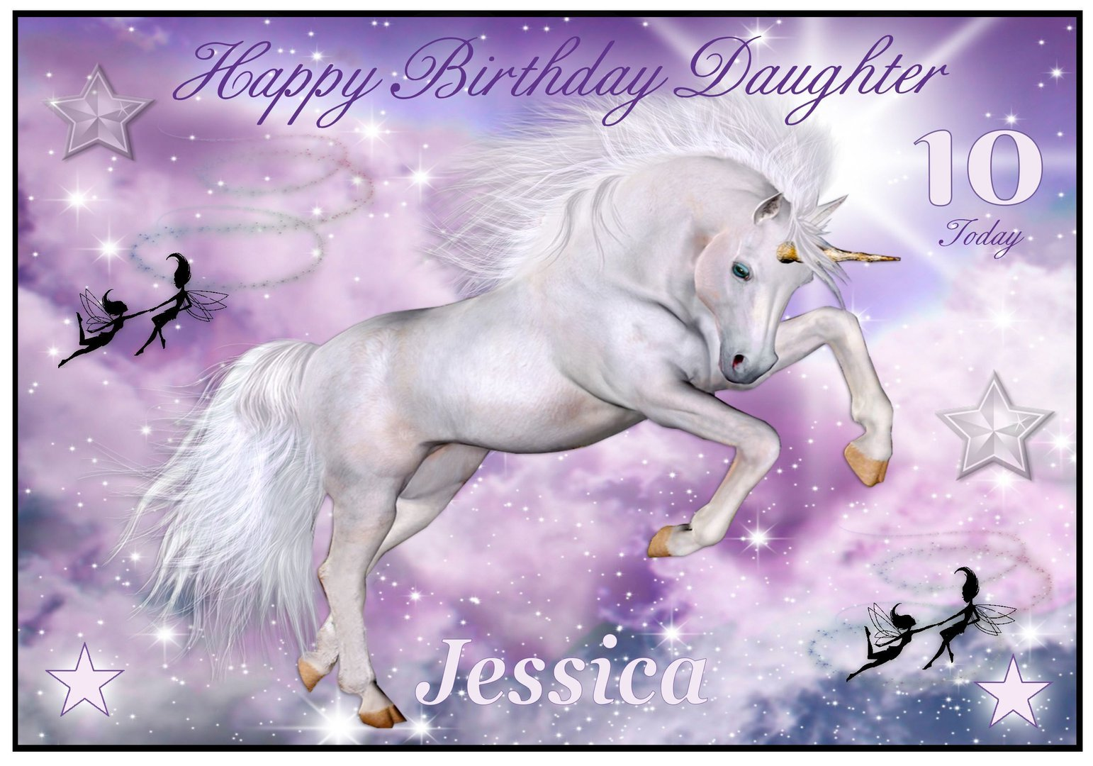 unicorn birthday card daughter ; daughter-horse-birthday-card-unicorn-with-fairies--cropped