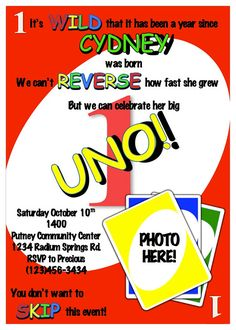 uno birthday invitation template ; 4dd2e47614eb41f97c39f3ec48d32c1a--first-birthday-invitations-birthday-stuff