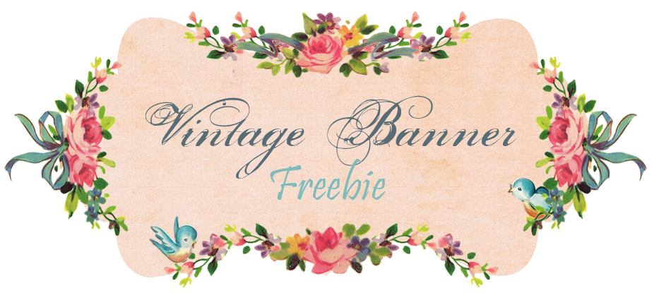 vintage birthday banner ; free-vintage-bluebird-blog-banner-header-by-FPTFY-web-ex-1