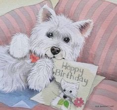 westie birthday card ; f64096b43efee62653f3ab3f2a3e258f--westie-dog-westies