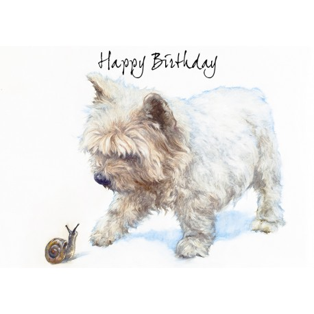 westie birthday card ; westie-birthday-art-card