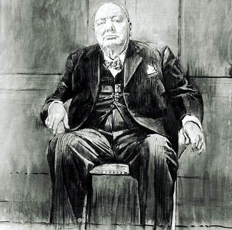 winston churchill 80th birthday picture ; article-2310532-195A543A000005DC-448_468x465
