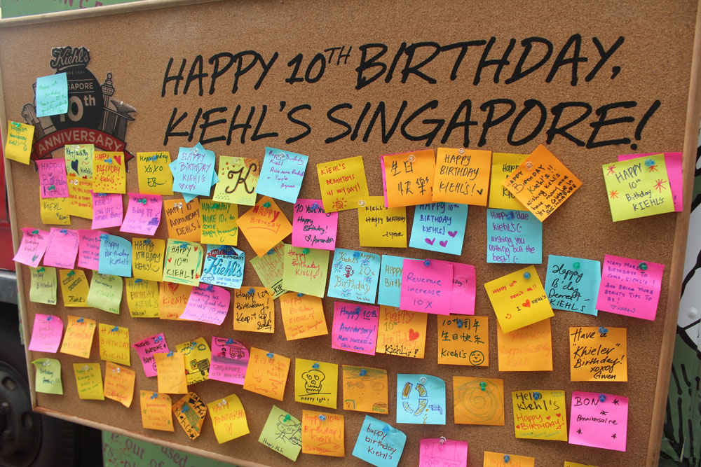 wish board for birthday ; Kiehls_Birthday-Greeting