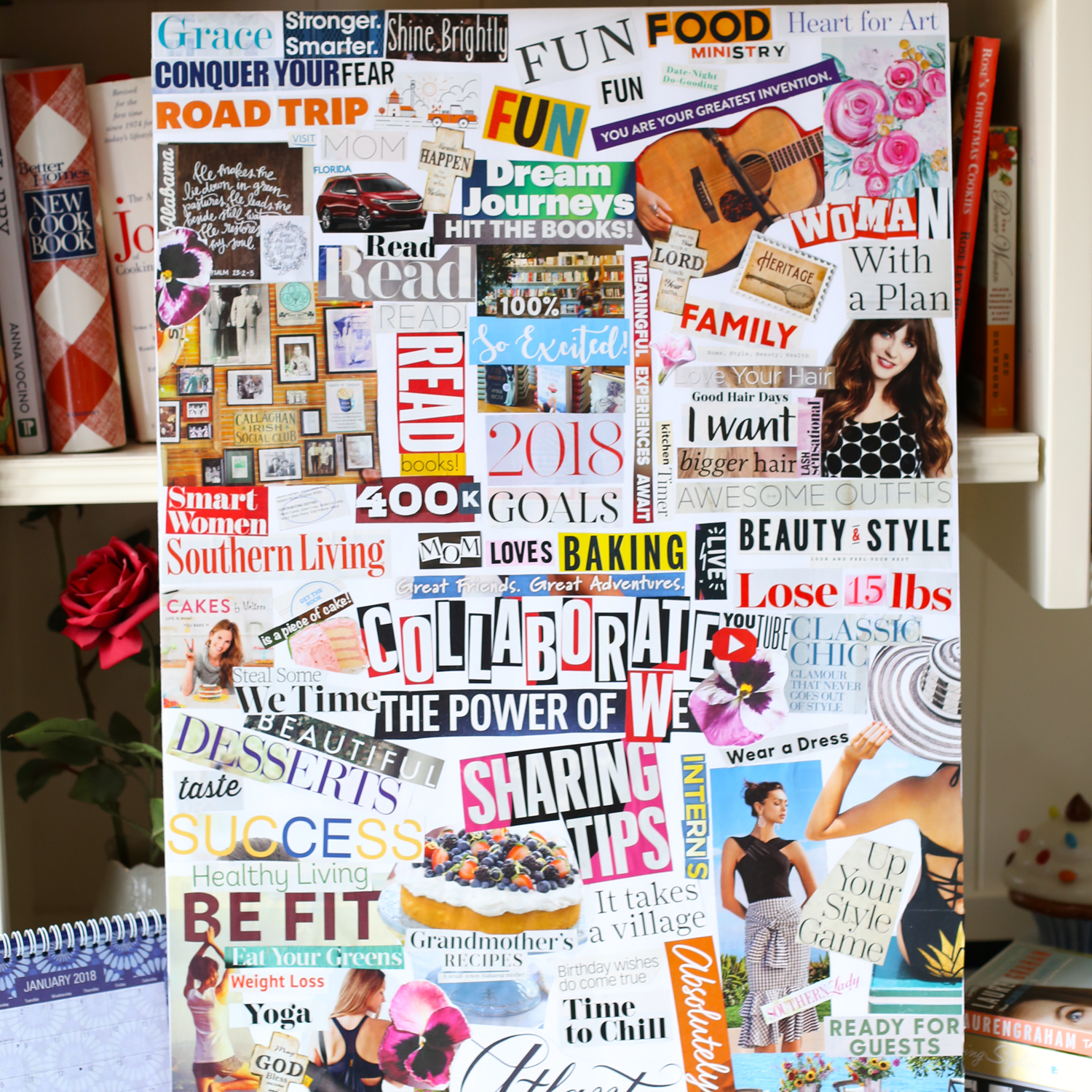 wish board for birthday ; Vision-Board-Lise-SQ