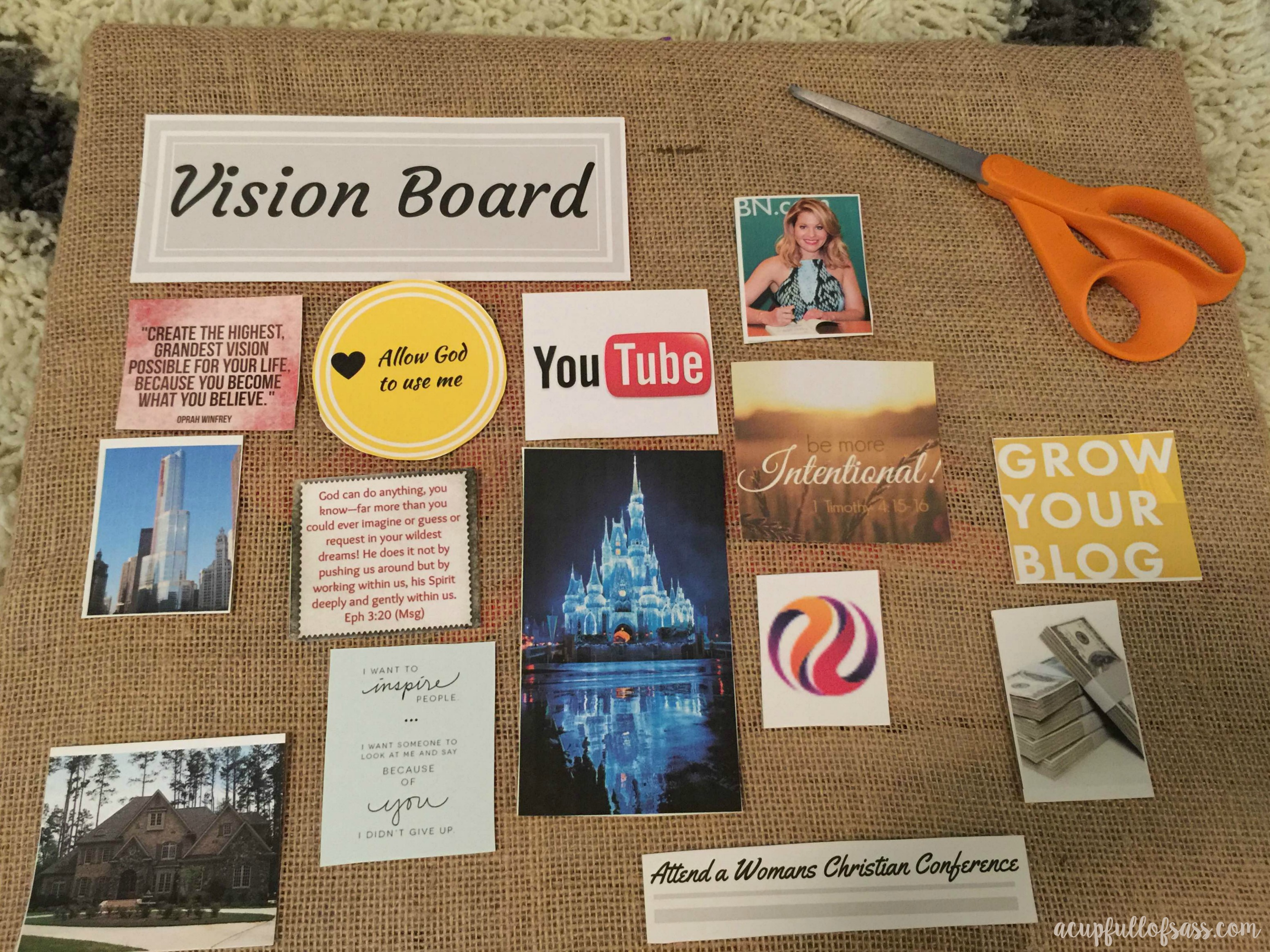 wish board for birthday ; vision-board-