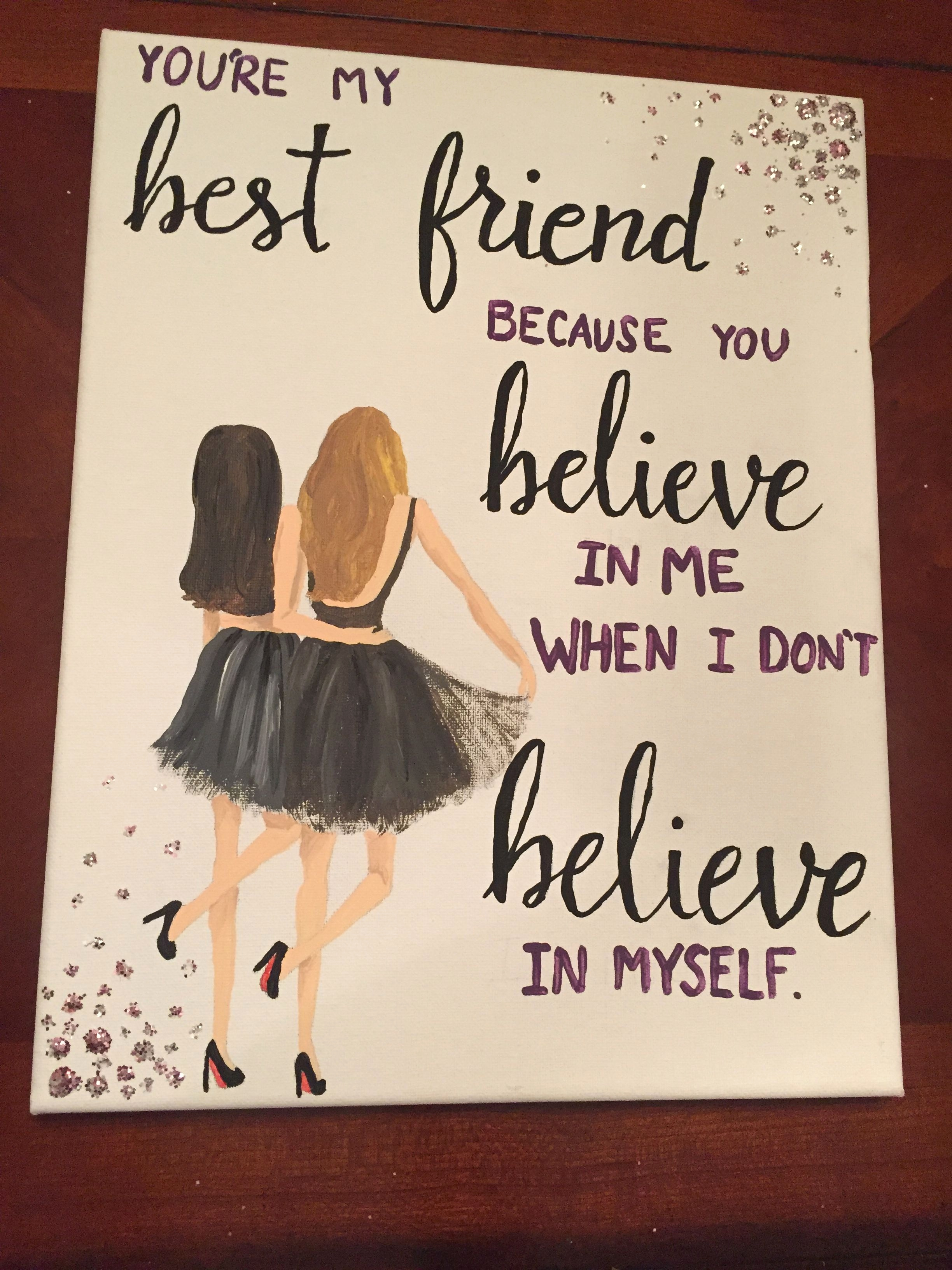 writing a birthday card for your best friend ; what-to-write-in-best-friends-birthday-card-inspirational-canvas-for-best-friend-quote-painting-diy-of-what-to-write-in-best-friends-birthday-card