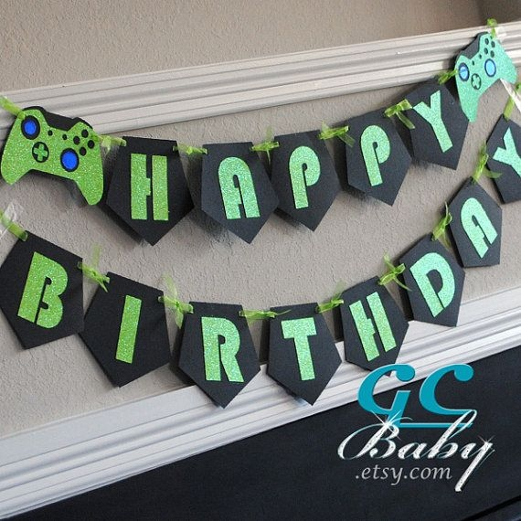 xbox birthday banner ; birthday-banner-decoration-ideas-fresh-17-best-ideas-about-xbox-party-on-pinterest-of-birthday-banner-decoration-ideas