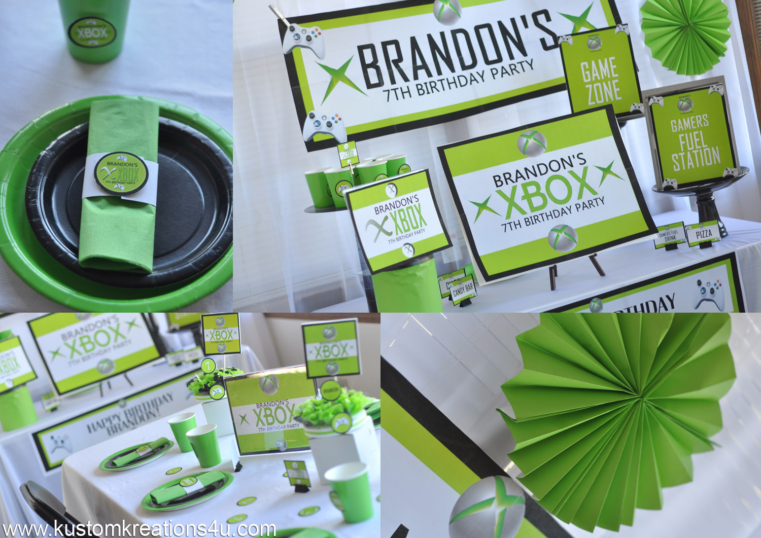 xbox birthday banner ; xbox-party-supply-copy